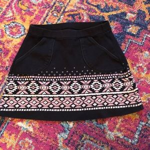 Abercrombie Black Cotton skirt size 12